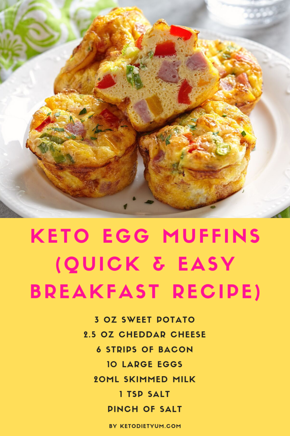 This gluten-free Keto Egg Cup (or Keto Egg Muffin as it's sometimes referred to) recipe is a good example of something that is easy to make and good for all the family to enjoy. #ketodiet #ketorecipes #lowcarbrecipes